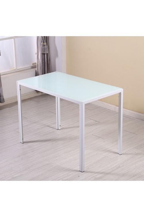 Nowoczesny stylowy prostokątny stół - czarny - szkło/stal - 120x70cm