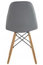 Nowoczesne skórzane krzesła skandynawskie - szare
