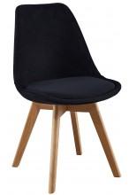Nowoczesne krzesła Tapicerowane skandynawskie WELUROWE - czarne