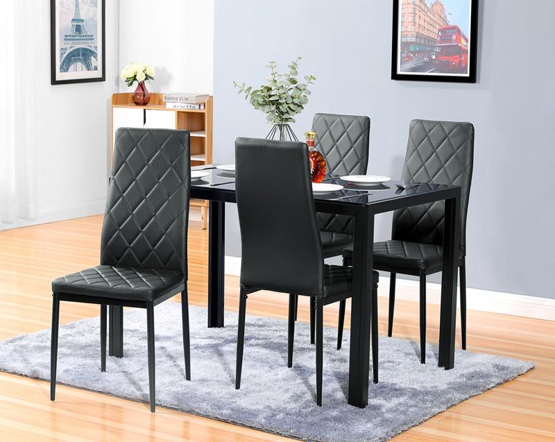 Krzesła tapicerowane z ekoskóry