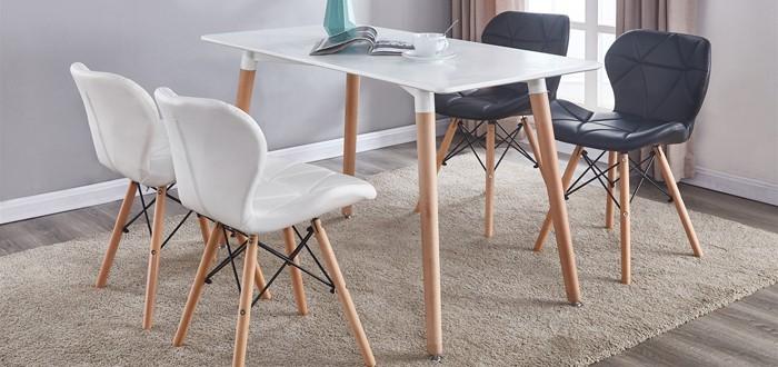 Krzesła tapicerowane z ekoskóry, Krzesła skóra ekologiczna